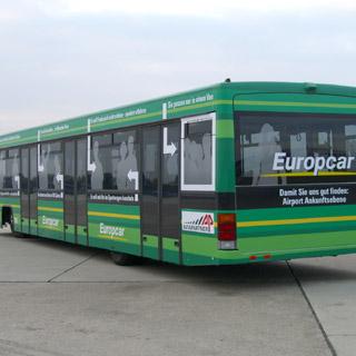 Passagierbus-Werbung